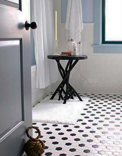 Black And White Tile Bathroom Paint Color Already Have This Tile On