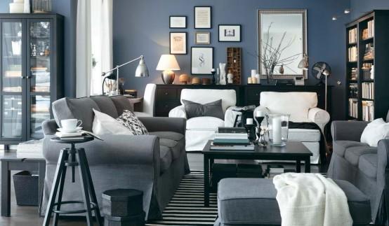 secret-ice: Blue and grey bedroom ideas