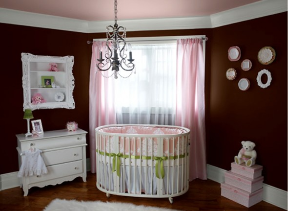 Home interior kitchen design girl nursery ideas Baby girl decorating room