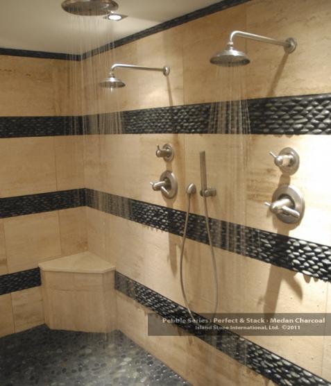 Instead. Bathroom Floors of River Rock   A Detailed House