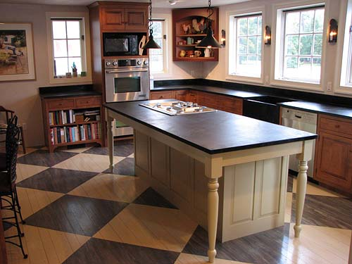 Add The Larger Countertop To The Structure And You Have A Farm Table Island.