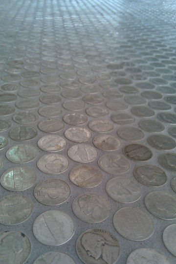 I made a penny floor : oddlysatisfying
