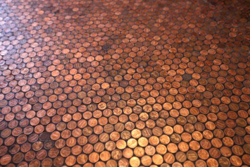 Cents and Sensibility: How to Make a Penny Floor | A Detailed House