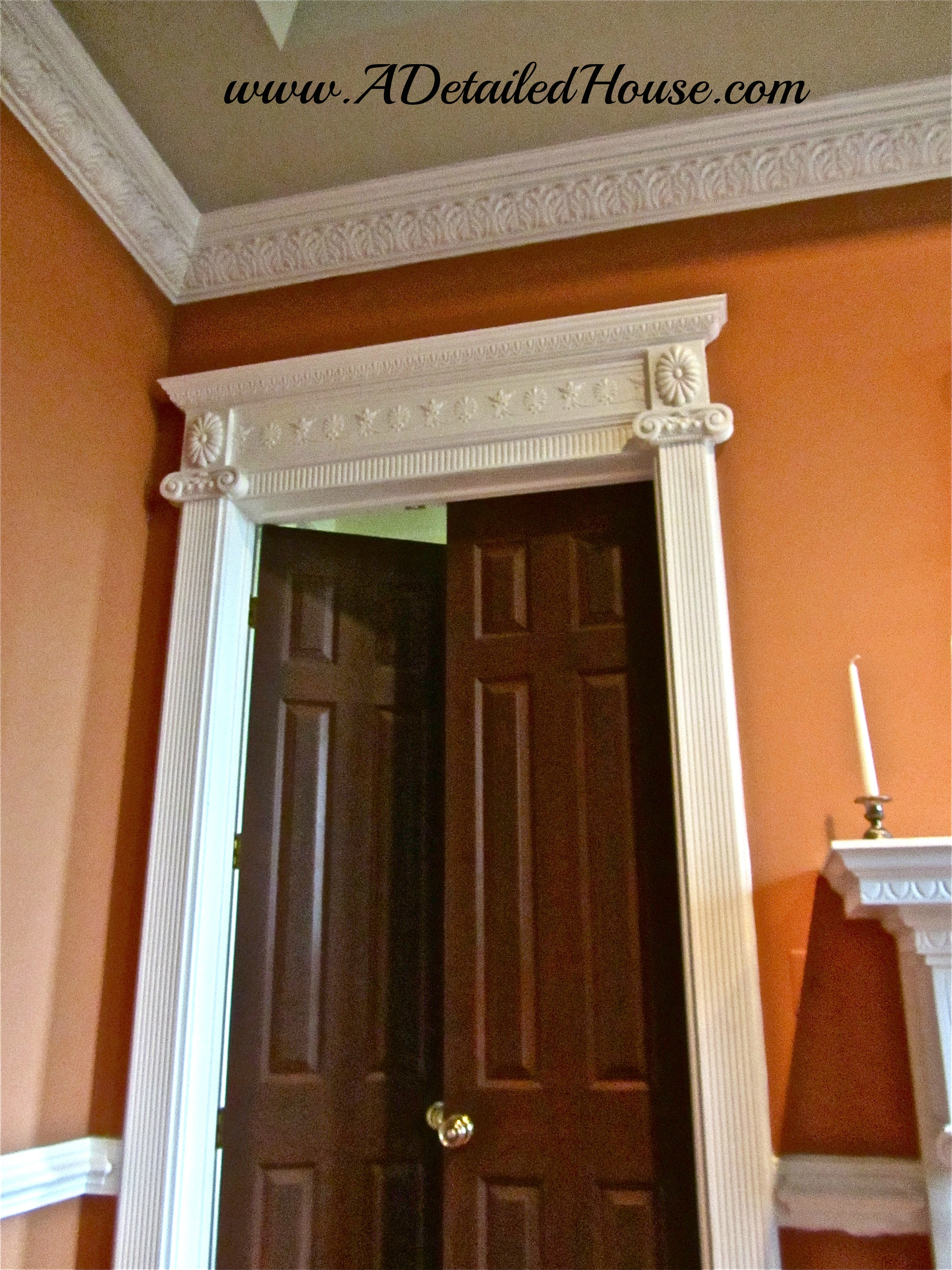 The dinkiest of dinky molding was put around our doors which made things look out of whack. In fact the picture below doesn\u0027t do it justice & Instructions for DIY Ornate Pilasters and Door Surrounds | A ...