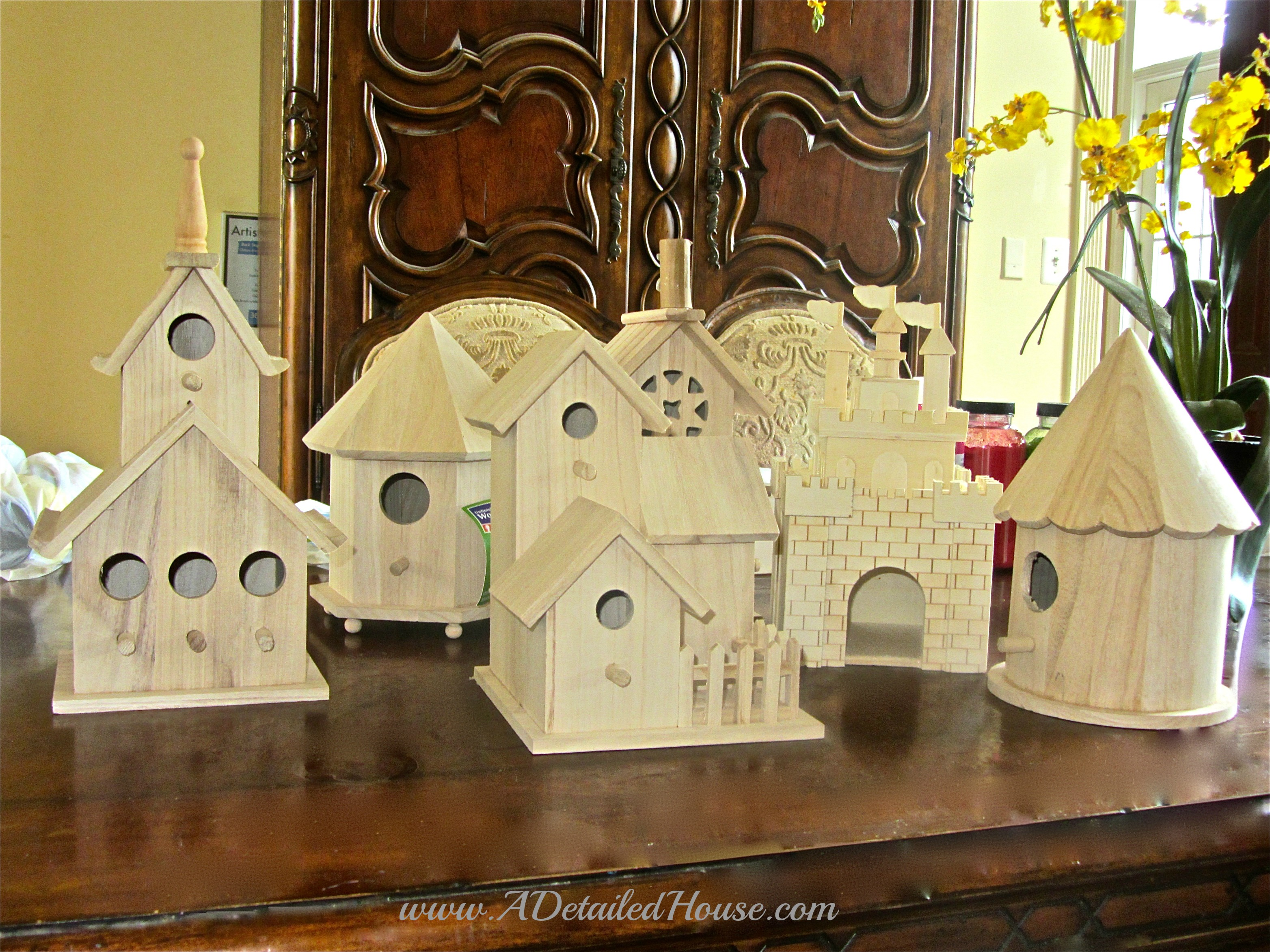 Kid Craft Birdhouse Project A Detailed House