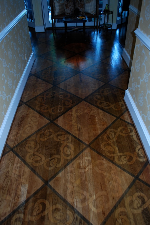 Patterned Stained Floors A Detailed House