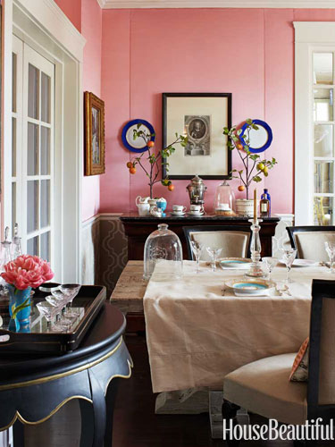 Designer Rooms: A Peach Dining Room and a Tiffany Blue Boudoir | A ...